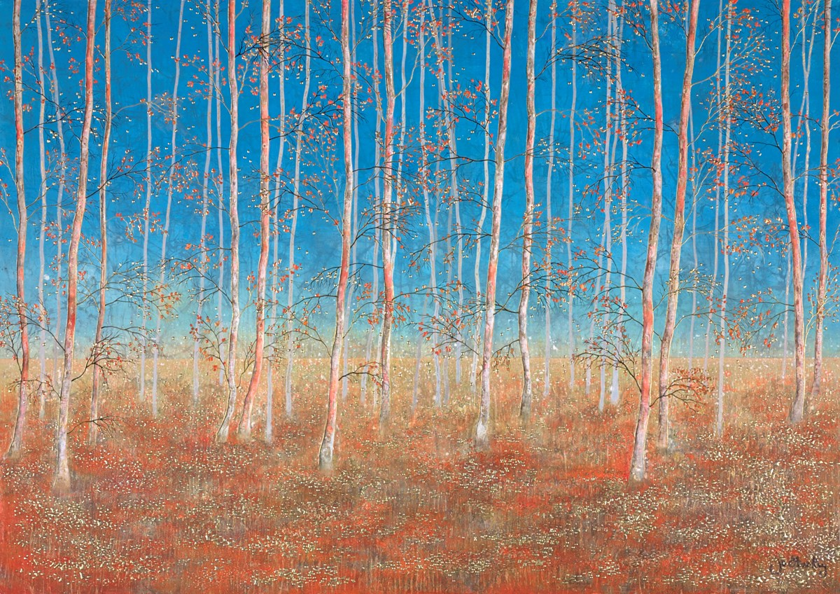 Forest Colours III by jo starkey -  sized 36x26 inches. Available from Whitewall Galleries
